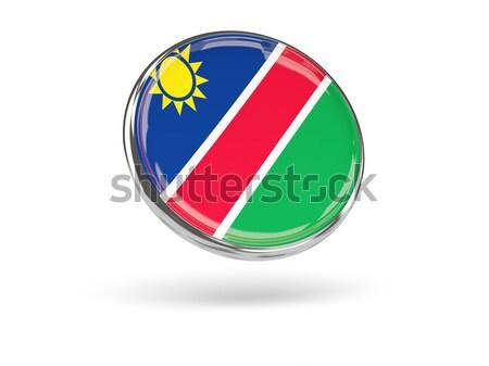 Ikon bayrak Namibya parlak beyaz ülke Stok fotoğraf © MikhailMishchenko