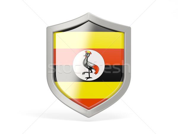 Shield icon with flag of uganda Stock photo © MikhailMishchenko
