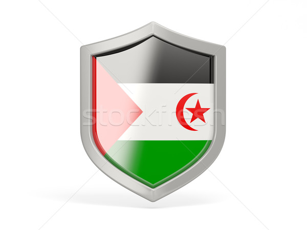 Schild icon vlag westerse sahara geïsoleerd Stockfoto © MikhailMishchenko