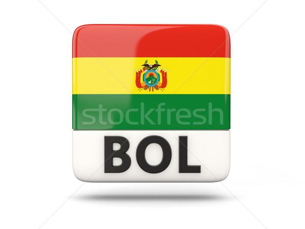Tér ikon zászló Bolívia iso kód Stock fotó © MikhailMishchenko