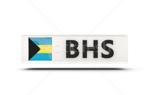 квадратный икона флаг Багамские острова iso Код Сток-фото © MikhailMishchenko
