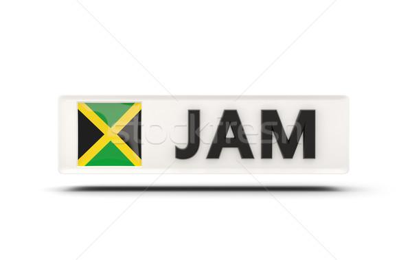 Vierkante icon vlag Jamaica iso code Stockfoto © MikhailMishchenko