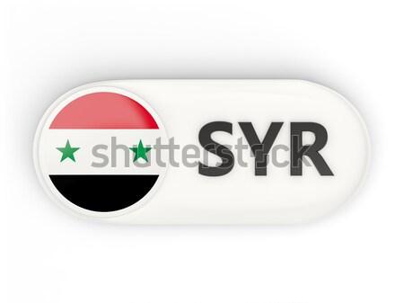 Vierkante icon vlag Syrië iso code Stockfoto © MikhailMishchenko