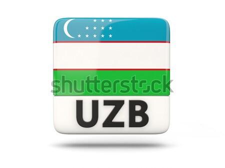 Szeretet Üzbegisztán felirat izolált fehér zászló Stock fotó © MikhailMishchenko