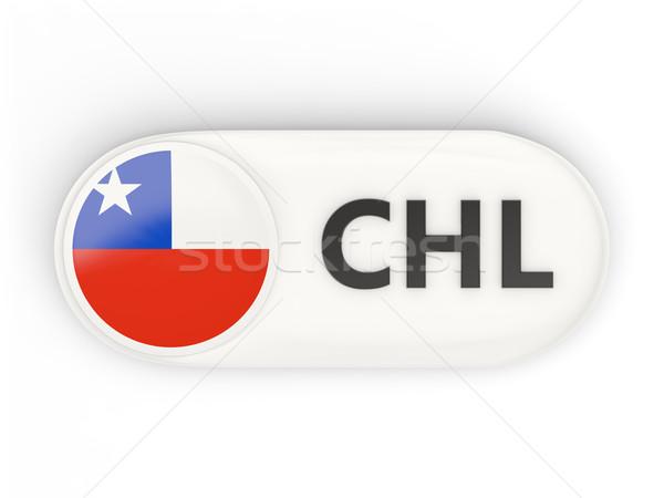 Ikon bayrak Şili iso kod ülke Stok fotoğraf © MikhailMishchenko