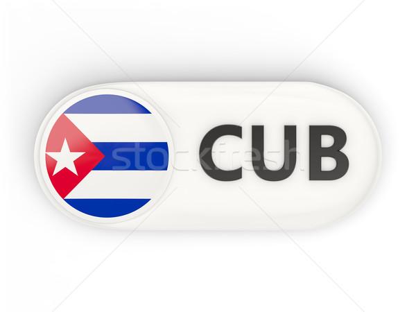 Icona bandiera Cuba iso codice paese Foto d'archivio © MikhailMishchenko