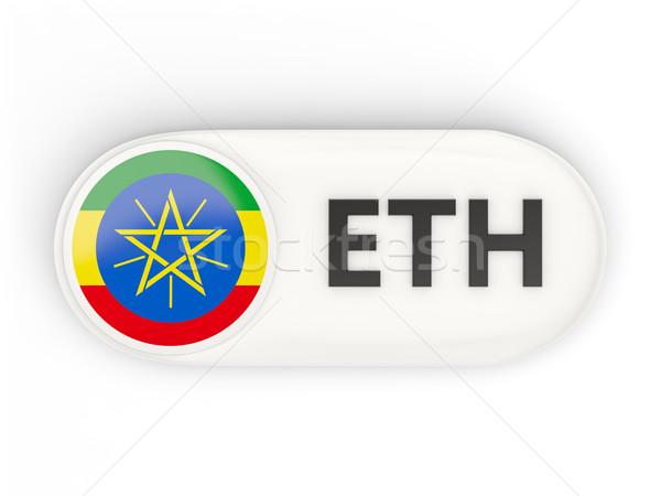 Ikona banderą Etiopia iso kodu kraju Zdjęcia stock © MikhailMishchenko