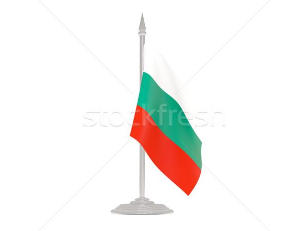 Bandera Bulgaria asta de bandera 3d aislado blanco Foto stock © MikhailMishchenko