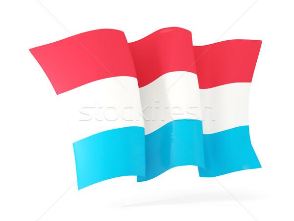 Vlag Luxemburg 3d illustration geïsoleerd witte Stockfoto © MikhailMishchenko