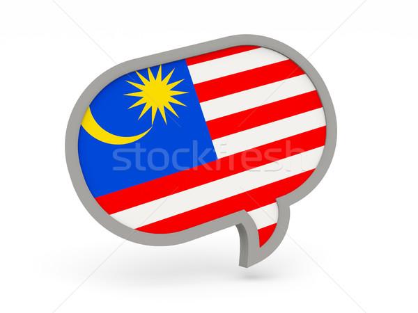 チャット アイコン フラグ マレーシア 孤立した 白 ストックフォト © MikhailMishchenko