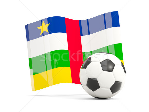 Football with waving flag of central african republic isolated o Stock photo © MikhailMishchenko