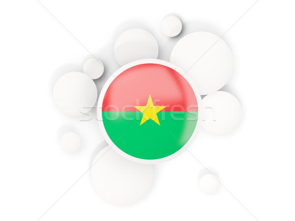 Round flag of burkina faso with circles pattern Stock photo © MikhailMishchenko