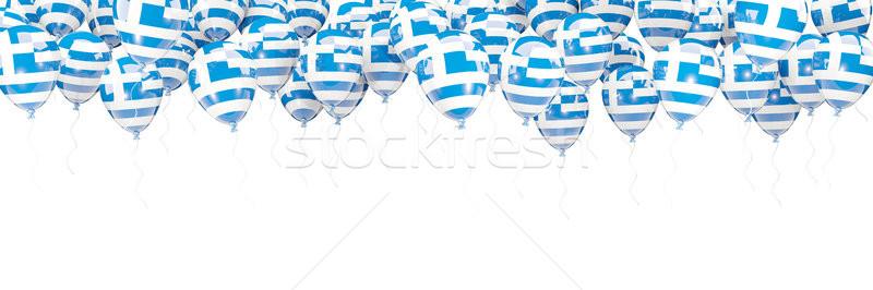 Ballons cadre pavillon Grèce isolé blanche Photo stock © MikhailMishchenko