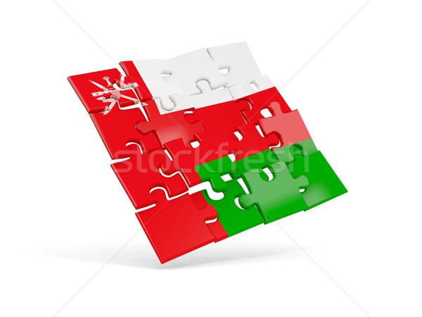 Puzzle flag of oman isolated on white Stock photo © MikhailMishchenko