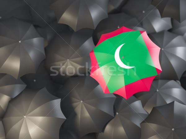 зонтик флаг Мальдивы Top черный Сток-фото © MikhailMishchenko