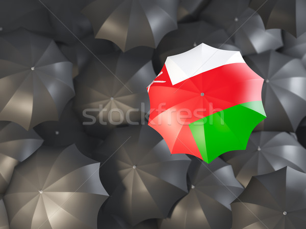 şemsiye bayrak Umman üst siyah Stok fotoğraf © MikhailMishchenko