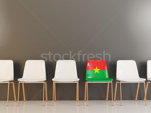 Chair with flag of burkina faso Stock photo © MikhailMishchenko