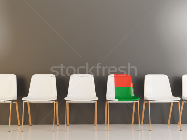 Chair with flag of madagascar Stock photo © MikhailMishchenko