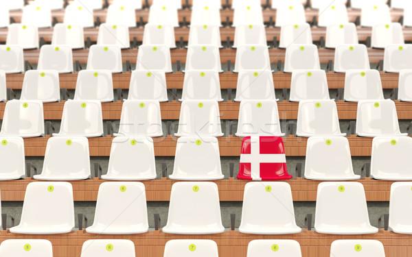 стадион сиденье флаг Дания белый Сток-фото © MikhailMishchenko
