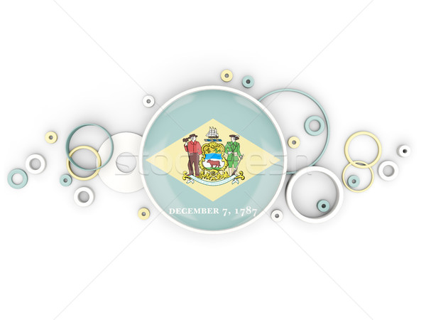 Round flag of delaware with circles pattern. United states local Stock photo © MikhailMishchenko