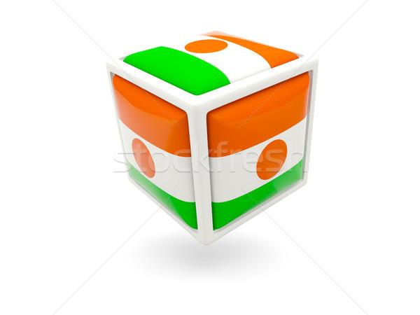 Bandera Níger cubo icono aislado blanco Foto stock © MikhailMishchenko