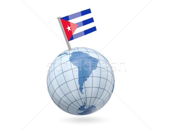 世界中 フラグ キューバ 青 孤立した 白 ストックフォト © MikhailMishchenko