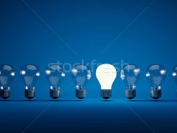 Row of light bulbs Stock photo © MikhailMishchenko
