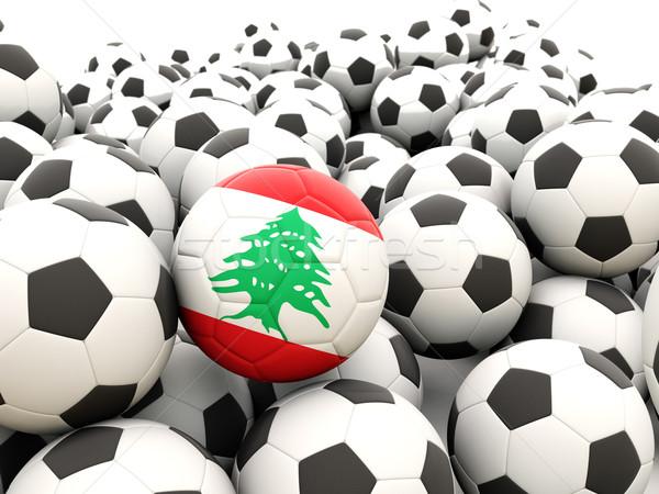 Futebol bandeira Líbano regular verão Foto stock © MikhailMishchenko