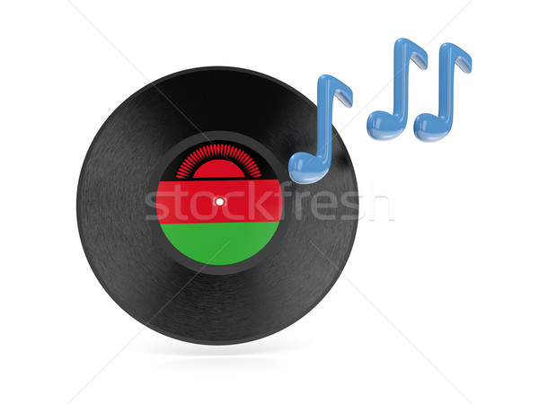 виниловых диск флаг Малави изолированный белый Сток-фото © MikhailMishchenko