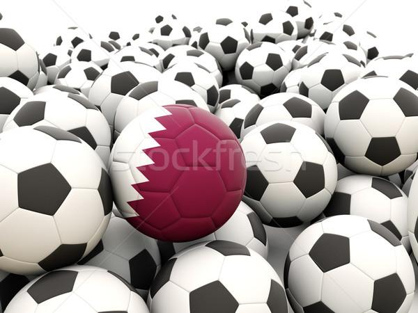 Futbol bayrak Katar düzenli yaz Stok fotoğraf © MikhailMishchenko