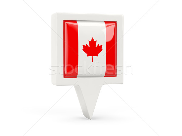 Square flag icon of canada Stock photo © MikhailMishchenko