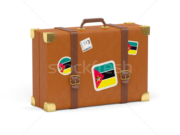 Mala bandeira Moçambique viajar isolado branco Foto stock © MikhailMishchenko