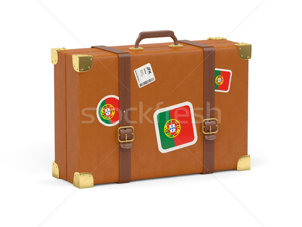 Suitcase with flag of portugal Stock photo © MikhailMishchenko
