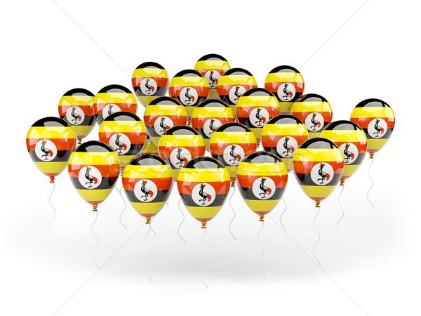 Balloons with flag of uganda Stock photo © MikhailMishchenko