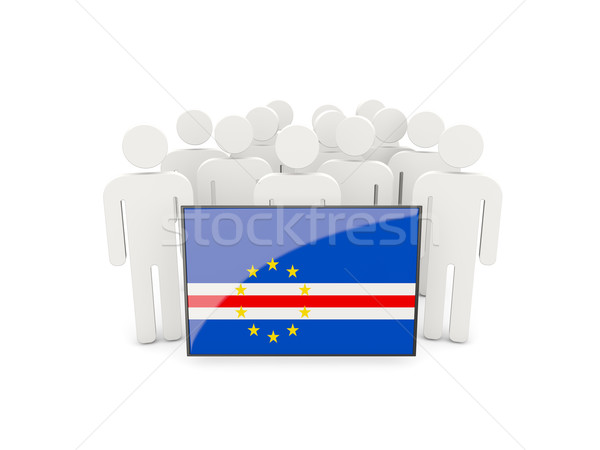 People with flag of cape verde Stock photo © MikhailMishchenko