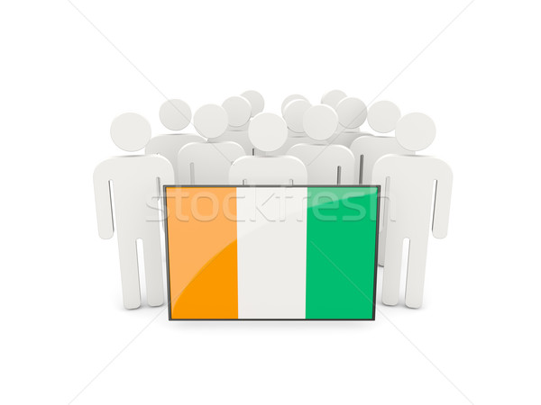 People with flag of cote d Ivoire Stock photo © MikhailMishchenko
