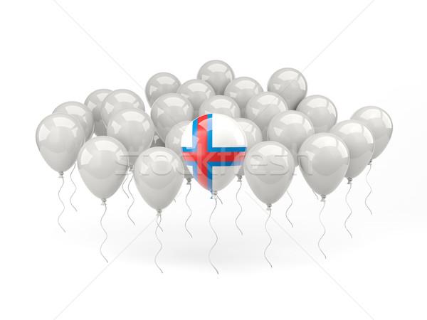Air balloons with flag of faroe islands Stock photo © MikhailMishchenko