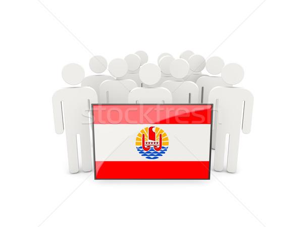 Insanlar bayrak fransız polinezya yalıtılmış beyaz Stok fotoğraf © MikhailMishchenko