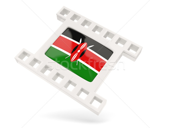 Film icon vlag Kenia geïsoleerd witte Stockfoto © MikhailMishchenko
