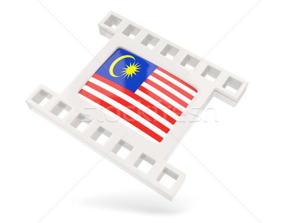 映画 アイコン フラグ マレーシア 孤立した 白 ストックフォト © MikhailMishchenko