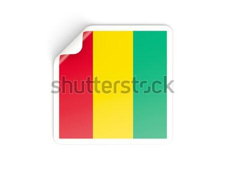 Piazza adesivo bandiera Benin isolato bianco Foto d'archivio © MikhailMishchenko