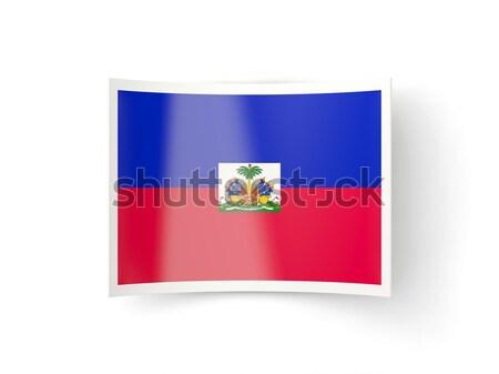 広場 ラベル フラグ ハイチ 孤立した 白 ストックフォト © MikhailMishchenko
