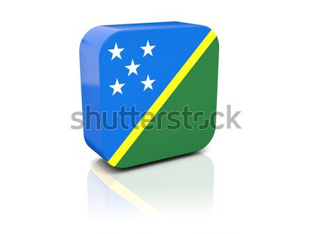 Square sticker with flag of solomon islands Stock photo © MikhailMishchenko