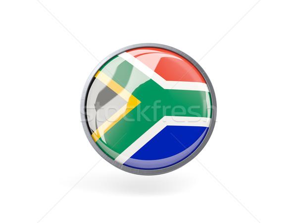 Ikon zászló Dél-Afrika fém keret utazás Stock fotó © MikhailMishchenko