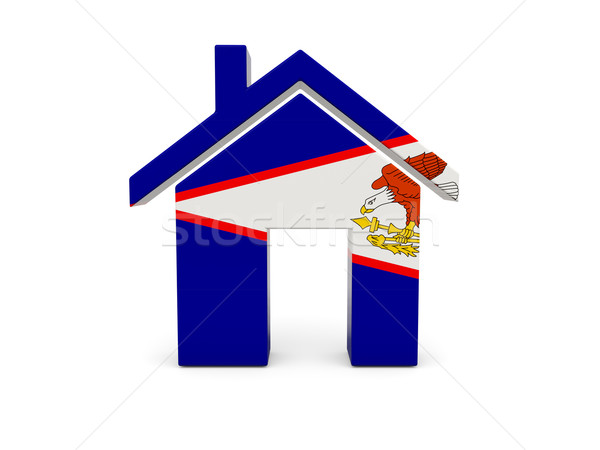 Home vlag Amerikaans Samoa geïsoleerd witte Zoek Stockfoto © MikhailMishchenko