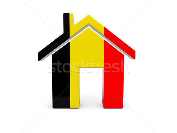 Home with flag of belgium Stock photo © MikhailMishchenko