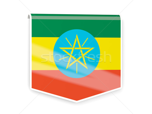 Flag label of ethiopia Stock photo © MikhailMishchenko