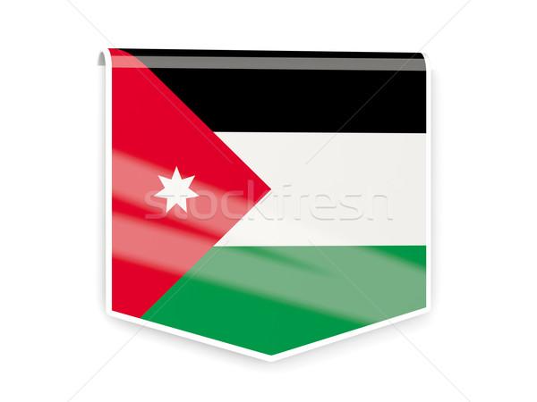 Bandeira etiqueta Jordânia isolado branco assinar Foto stock © MikhailMishchenko