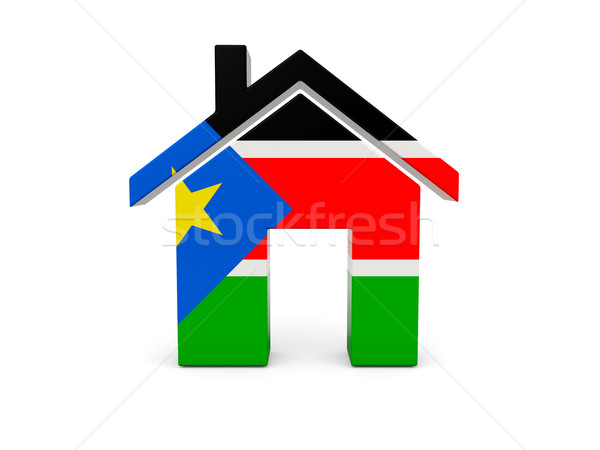 Home with flag of south sudan Stock photo © MikhailMishchenko