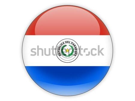 Ikon zászló Paraguay izolált fehér utazás Stock fotó © MikhailMishchenko